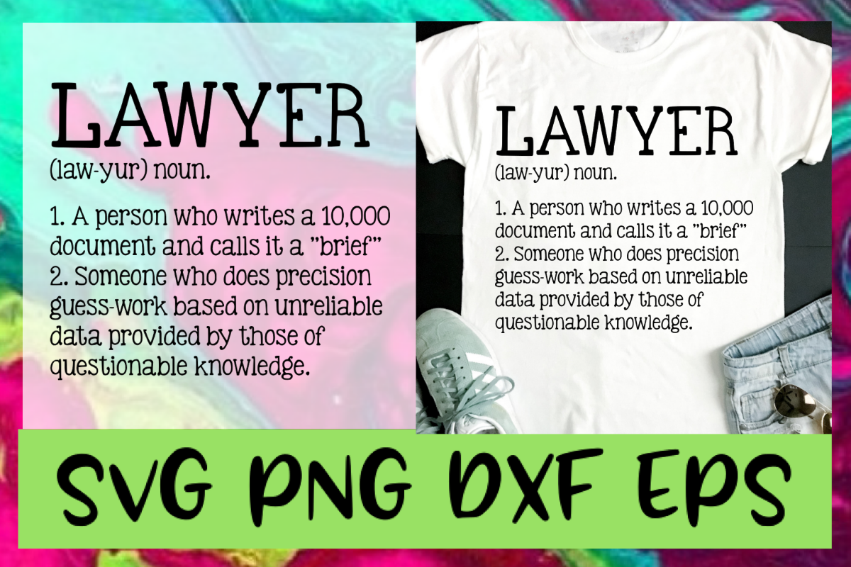Lawyer Definition SVG PNG DXF & EPS Design Files example image 1