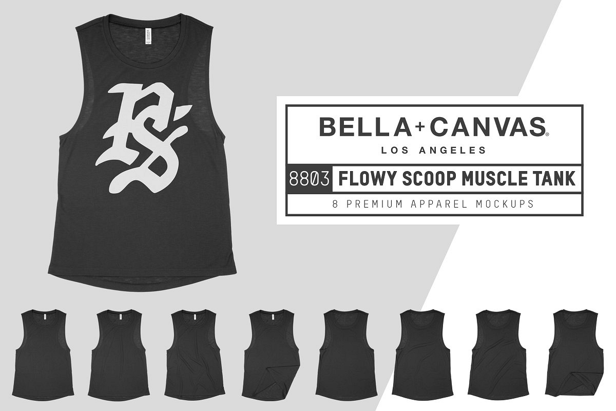 Bella Canvas 8803 Scoop Muscle Tank example image 1