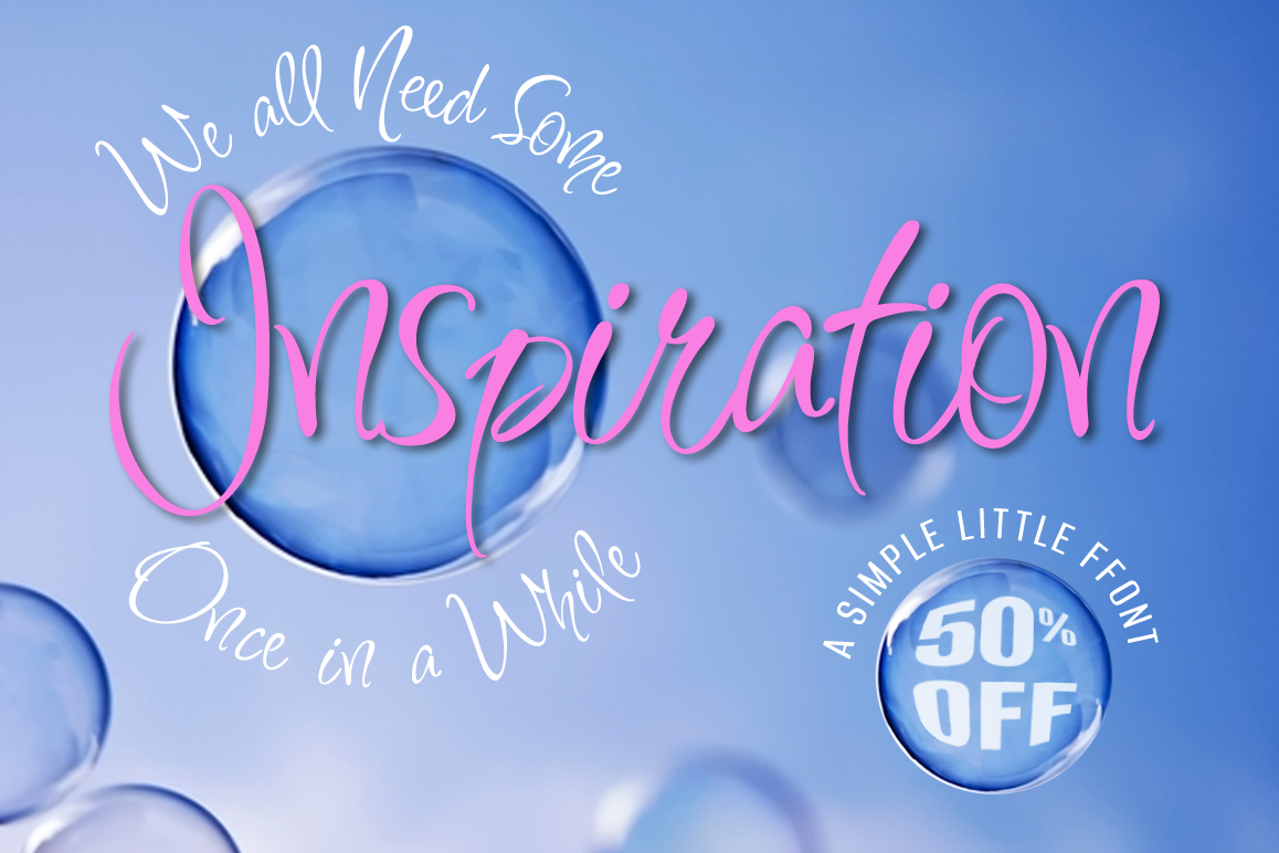 Inspiration - Part of the Amazing Scripts Bundle! example image 1