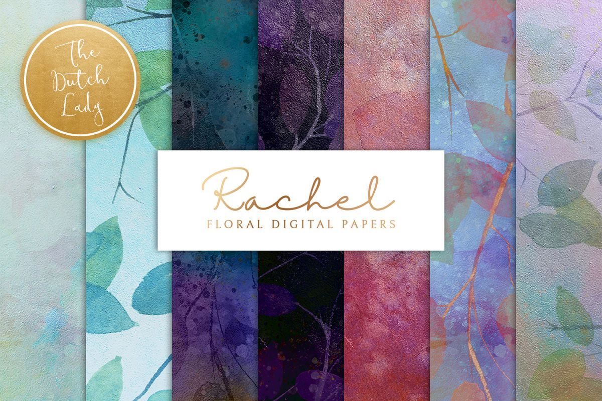 Floral Backgrounds & Paper Designs - Rachel example image 1