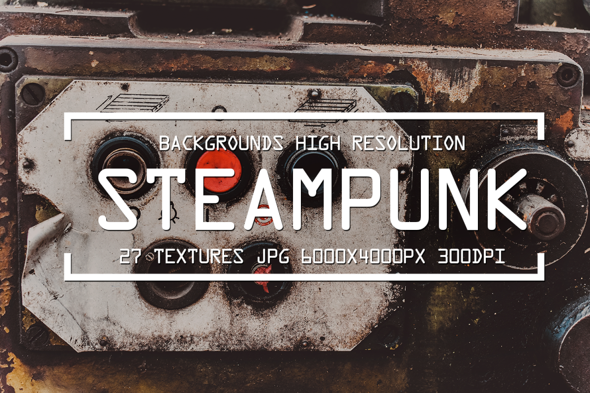 Grunge Steampunk Textures Overlays background pack digital example image 1
