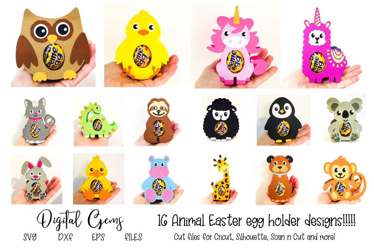 16 Animal egg holder designs - The complete set!!!! example image 1