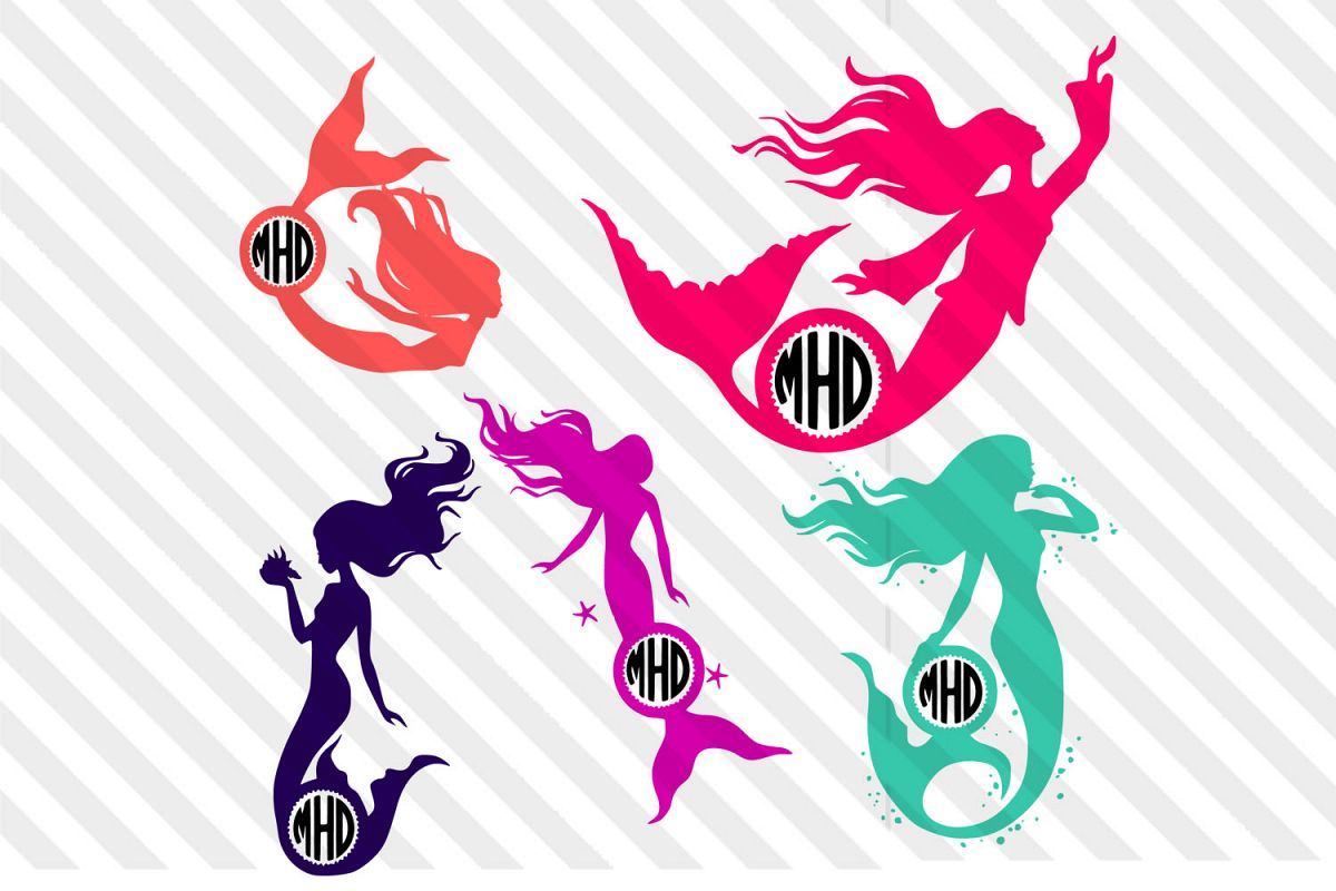 Mar-maid,Sea,seahorse,logo,vector,silhouette,clip art,icon, example image 1