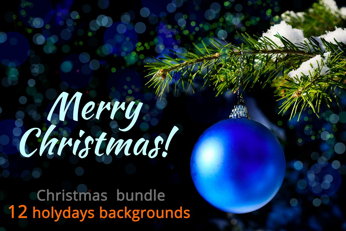 Christmas backgrounds bundle. example image 1
