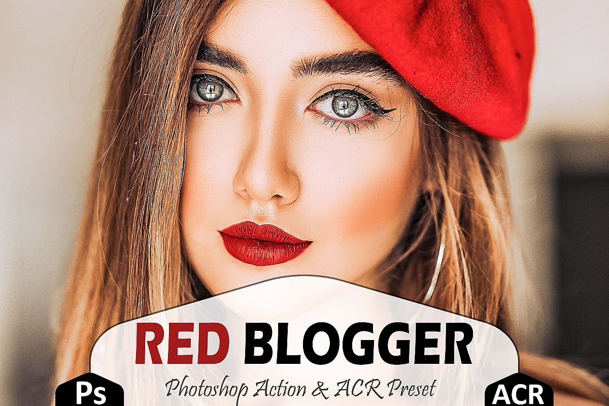 Red Blogger Photoshop Actions And ACR Presets example image 1