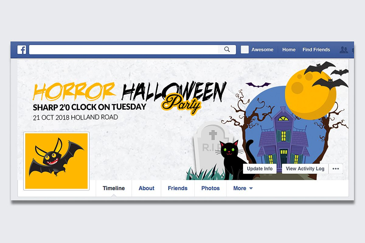 Halloween Facebook Timeline Cover example image 1