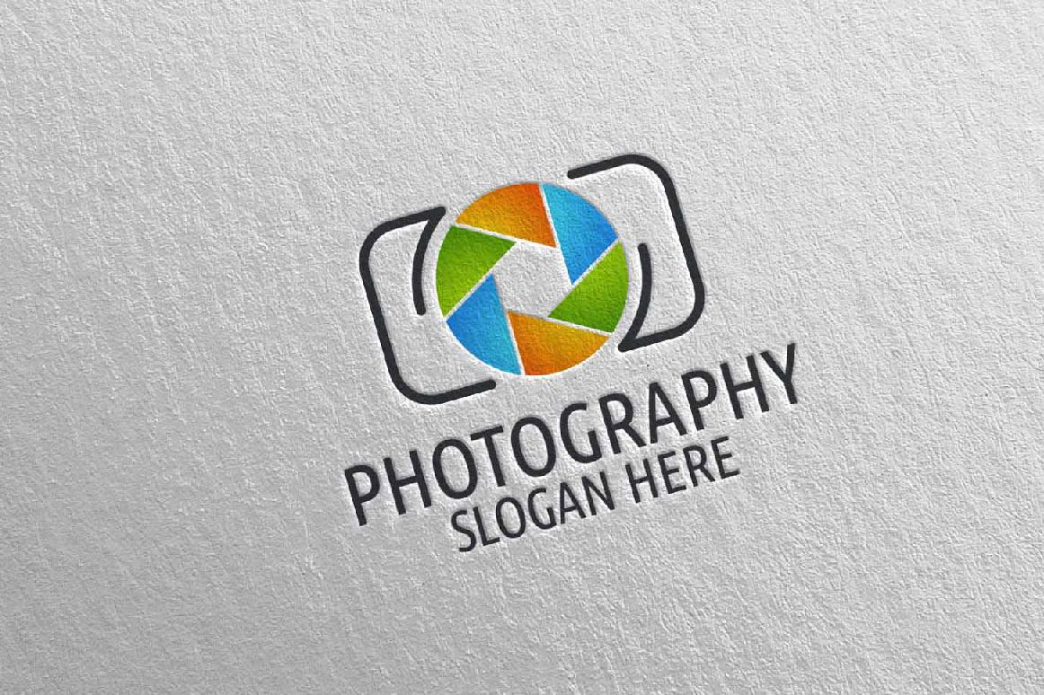 Abstract Camera Photography Logo 2 example image 1