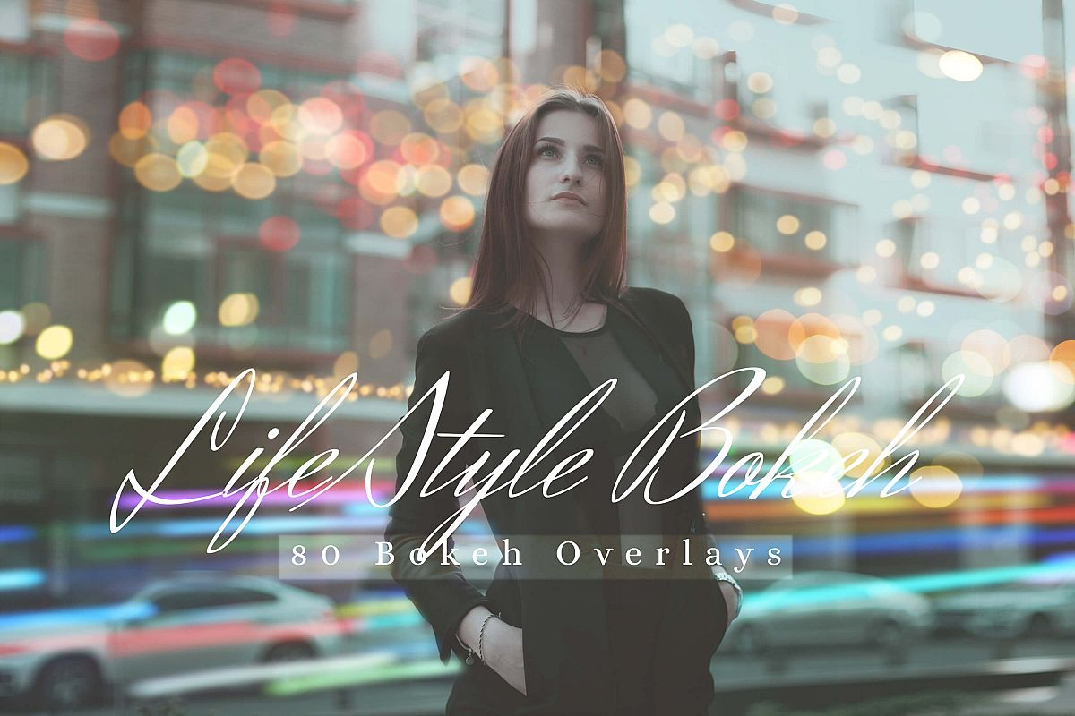 80 Life Style Bokeh Pack 02 lights Effect Photo Overlays example image 1