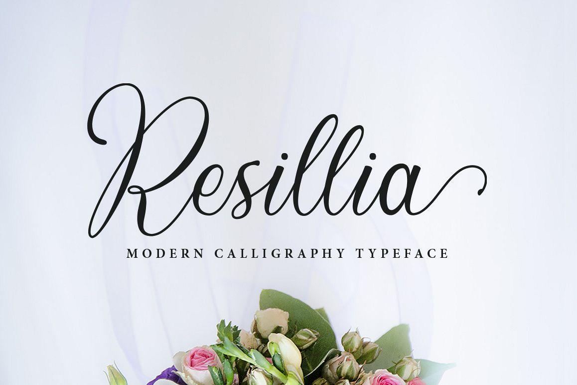 Resillia Script (30% OFF) example image 1