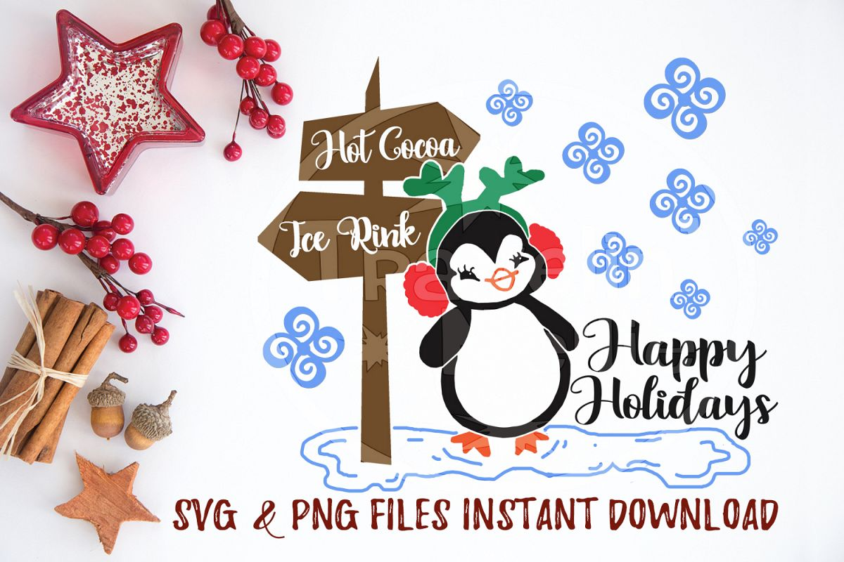 image regarding Happy Holidays Printable Card known as Content Holiday seasons SVG Penguin Printable Greeting Card Xmas