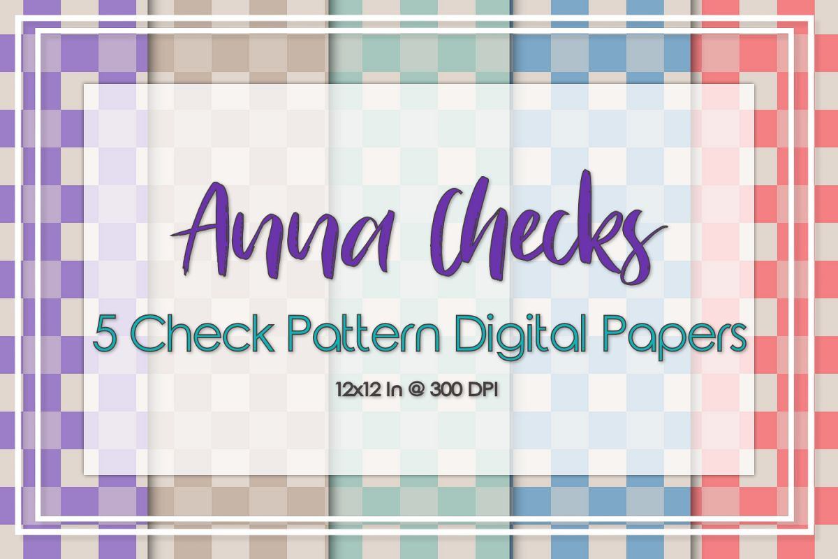 Anna Check Pattern Papers example image 1