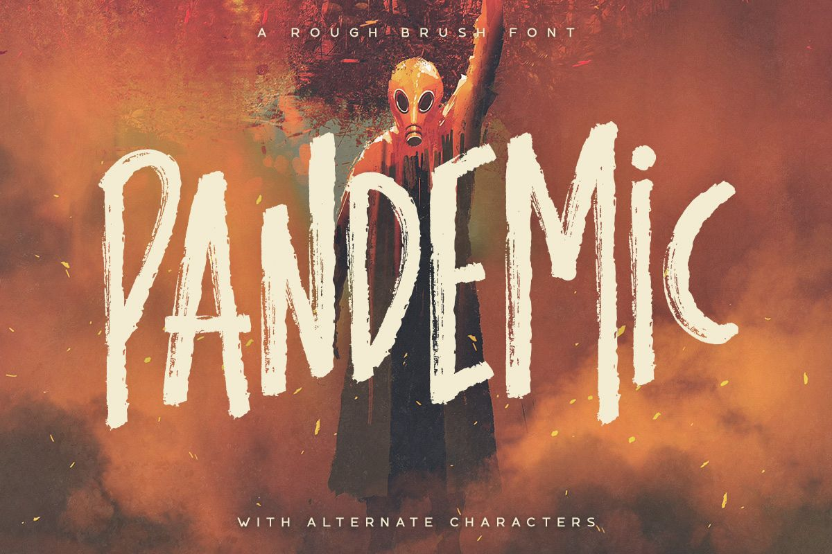 Pandemic - Brush Font example image 1