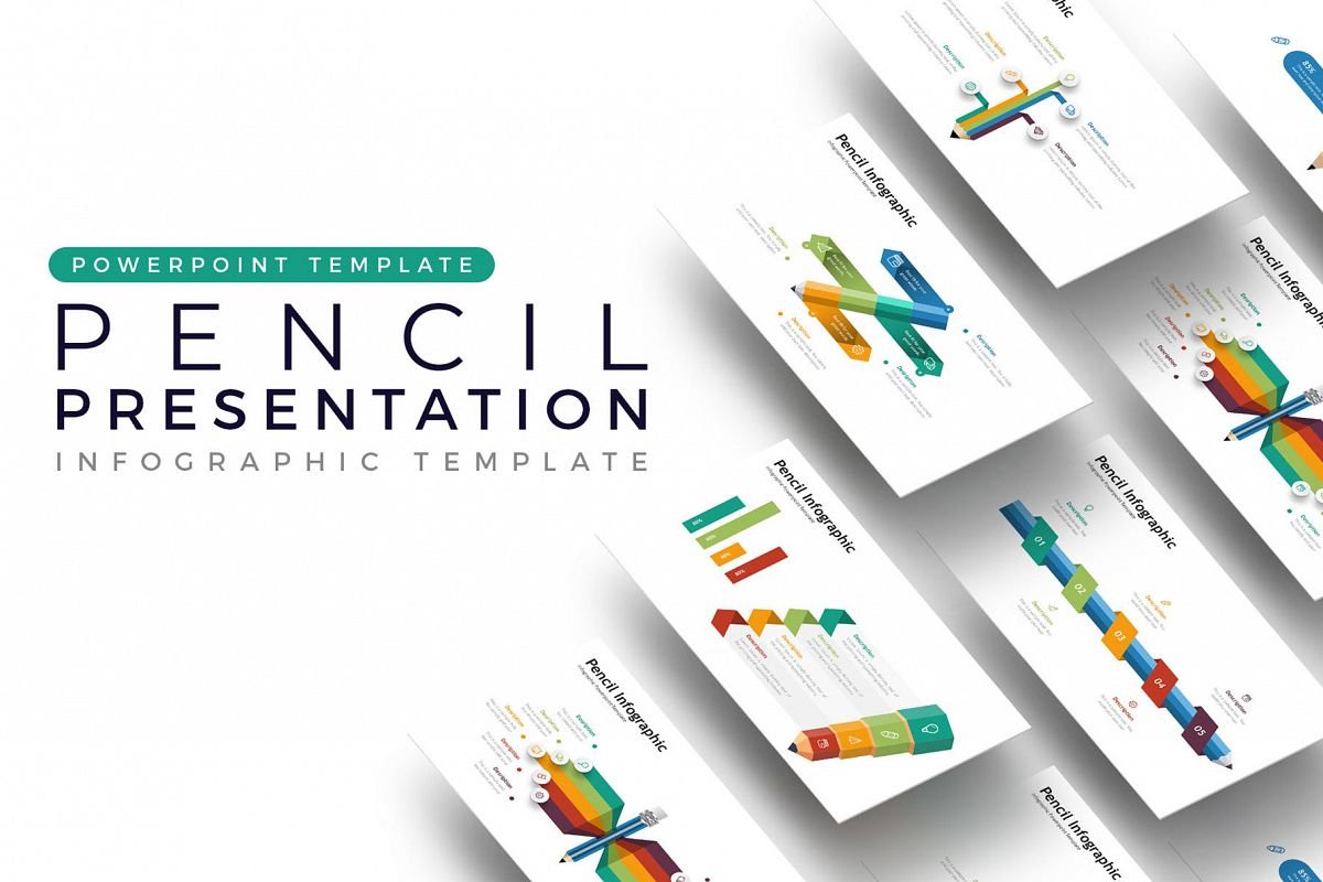 Pencil Presentation - Infographic Template example image 1