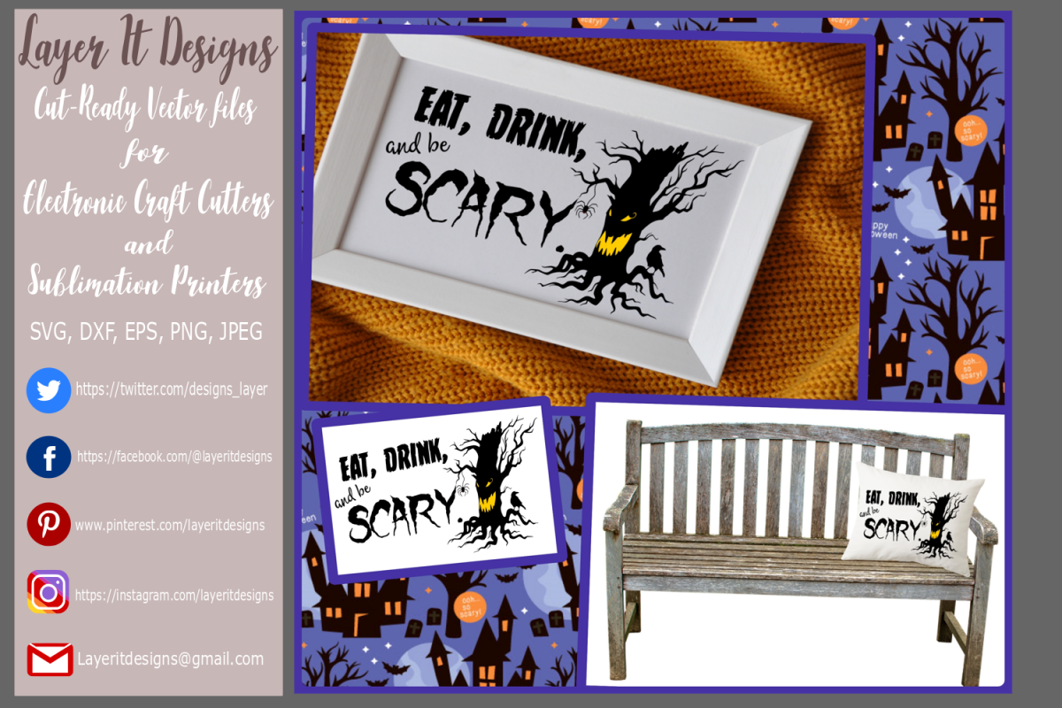 Eat Drink and be Scary Design File example image 1