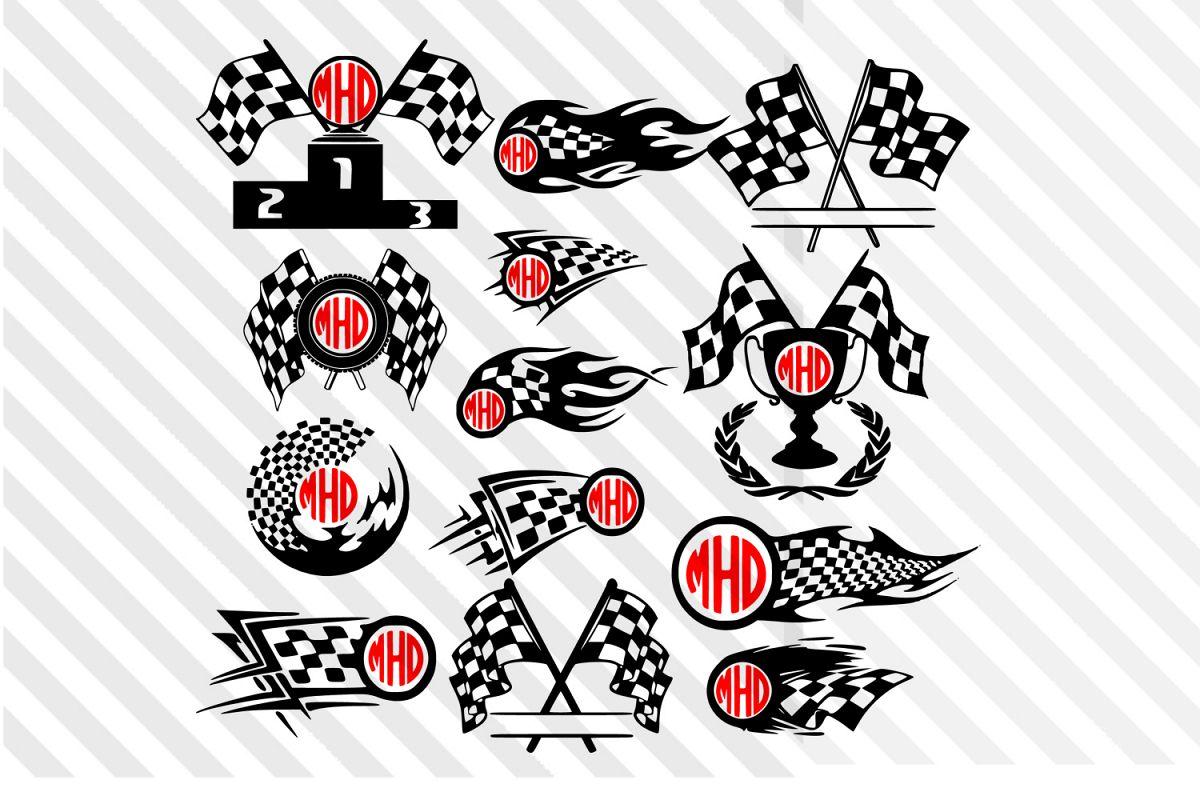 Racing Car Silhouette Cars Silhouette Sports Car Flag