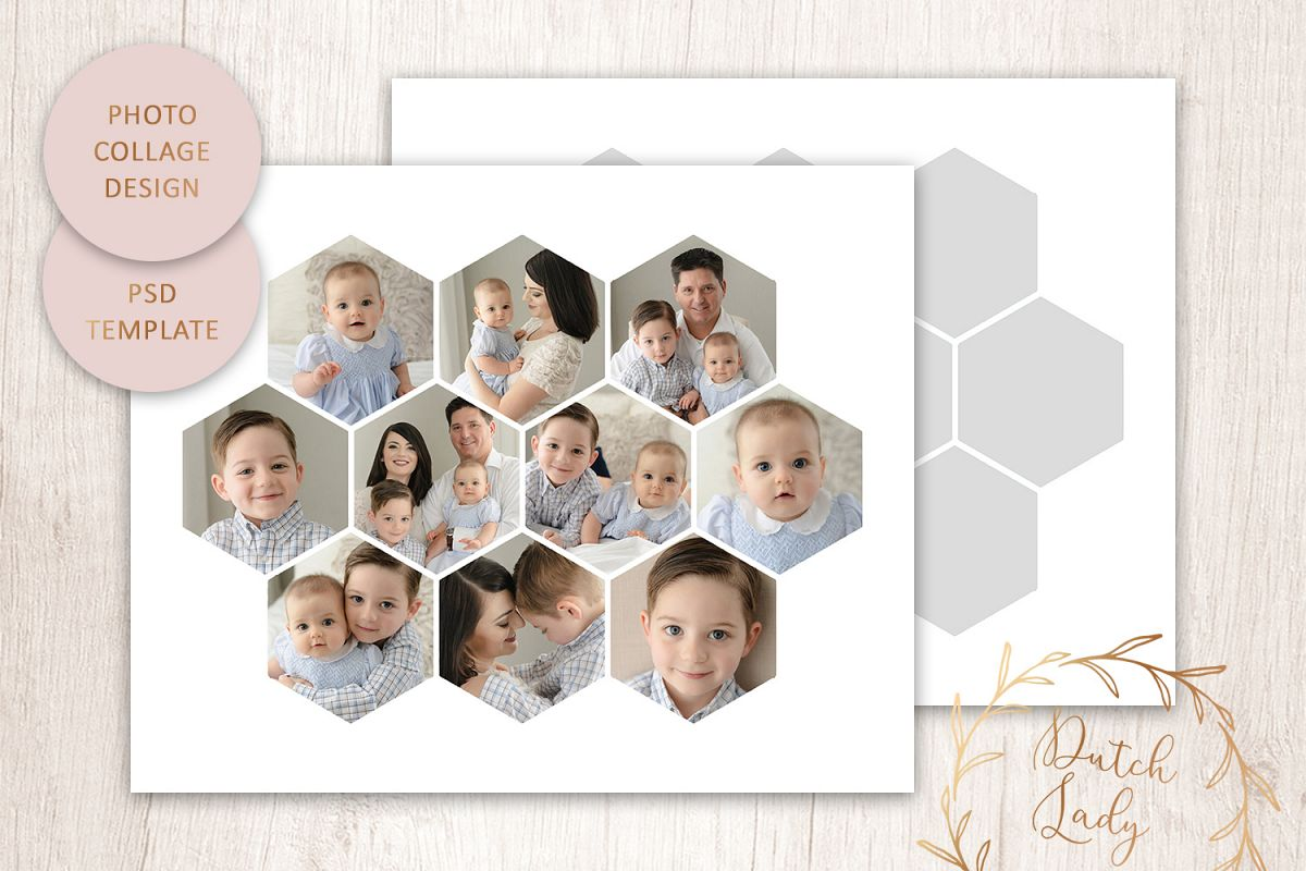 PSD Photo & Image Collage Template #6 example image 1