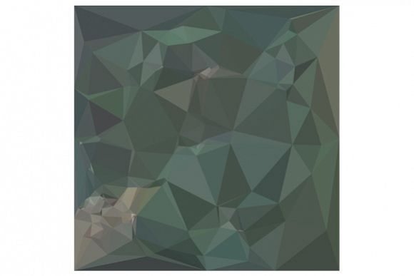 Light Sea Green Abstract Low Polygon Background example image 1