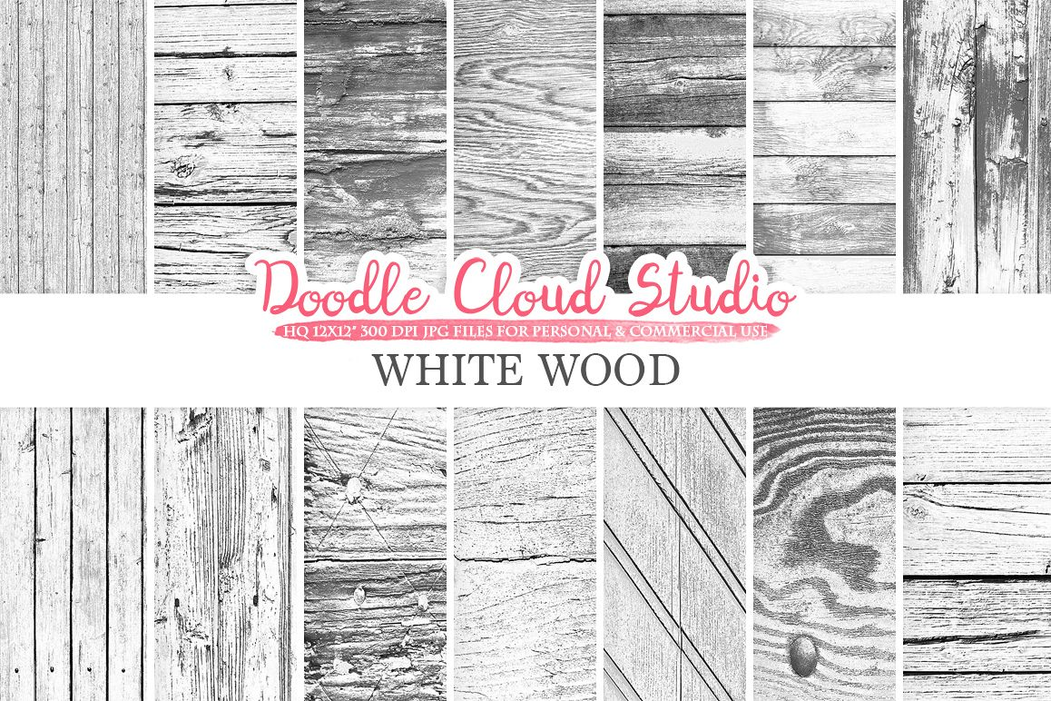 White Wood digital paper, Shabby Old Wood, Distressed Wood Backgrounds, Real Rustic Wood textures Instant Download Personal & Commercial Use example image 1