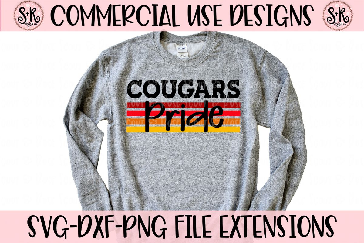 Cougars Pride SVG DXF PNG example image 1