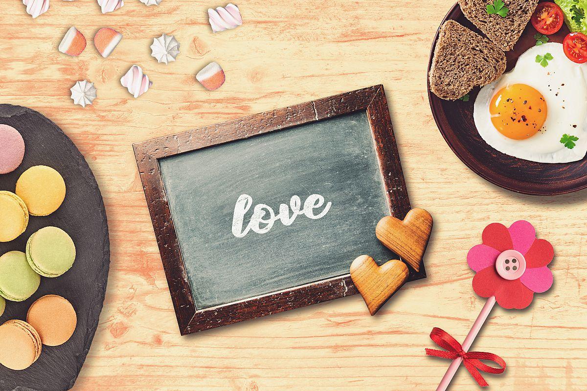 Valentine Chalkboard Mock-up #1 example image 1