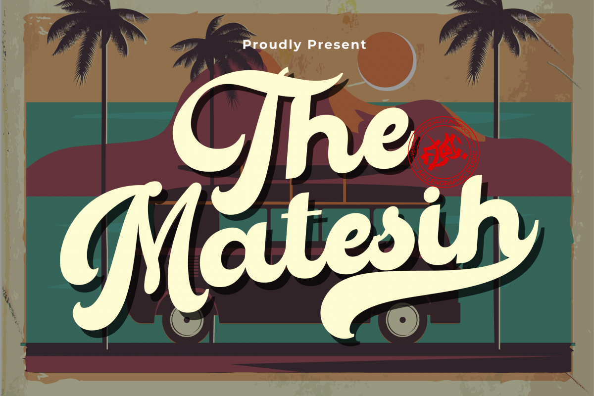 The Matesih bold script example image 1