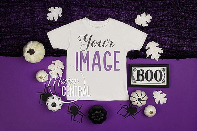 Halloween T-Shirt Mockup White Shirt , JPG Download example image 1