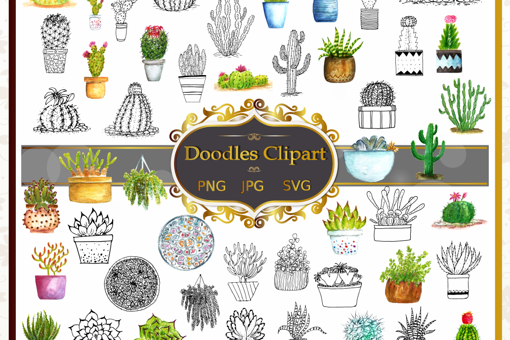 Cactus Vector Clipart Collection example image 1