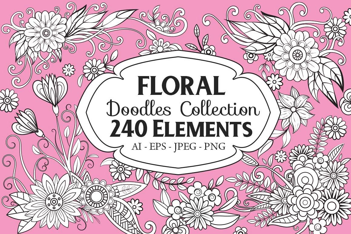 Floral Doodles Collection example image 1