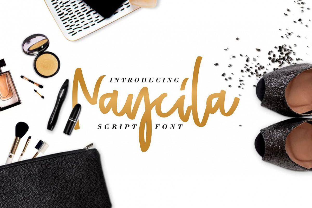Naycila Script Font example image 1