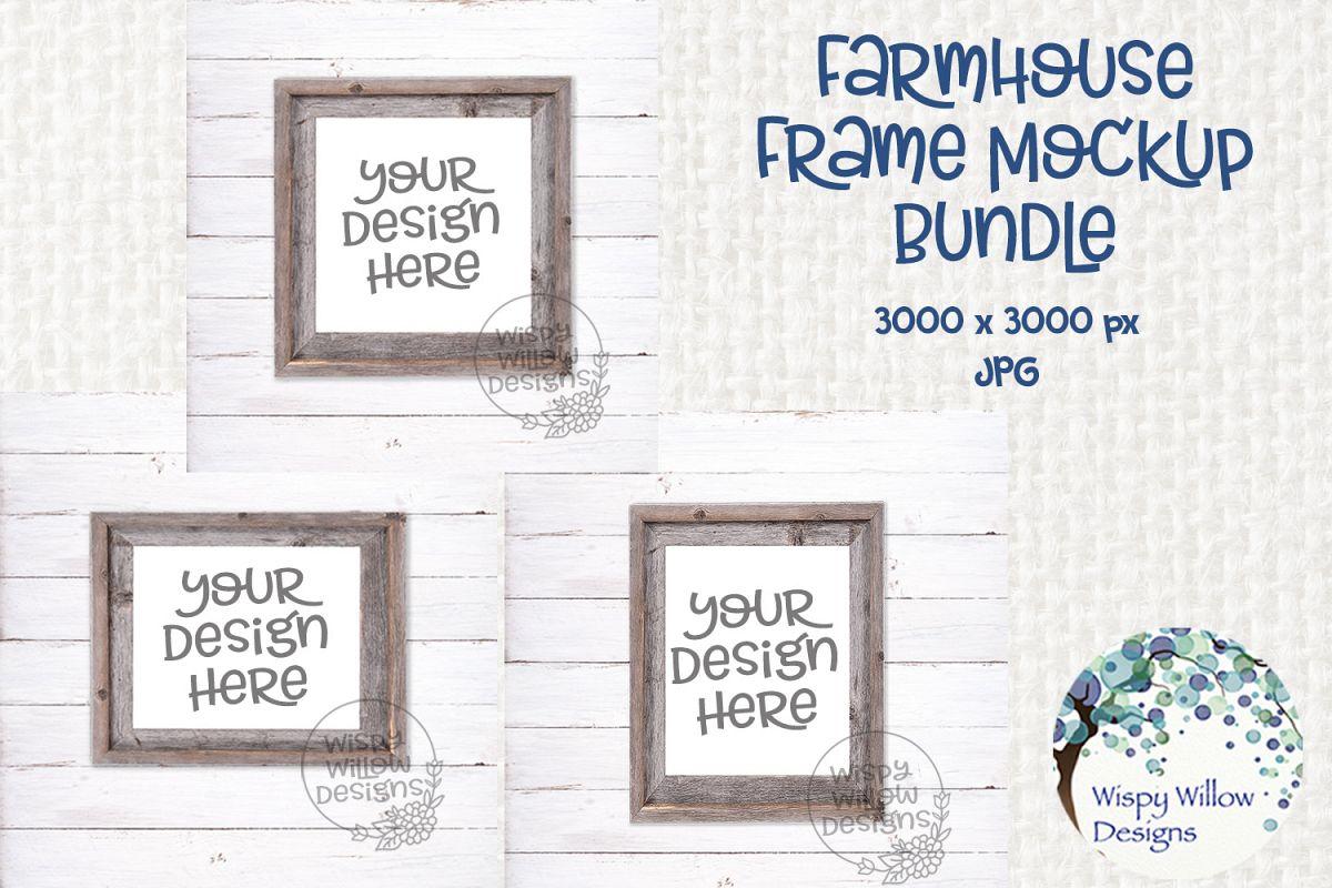 Farmhouse Photo Frame Mockup Bundle example image 1