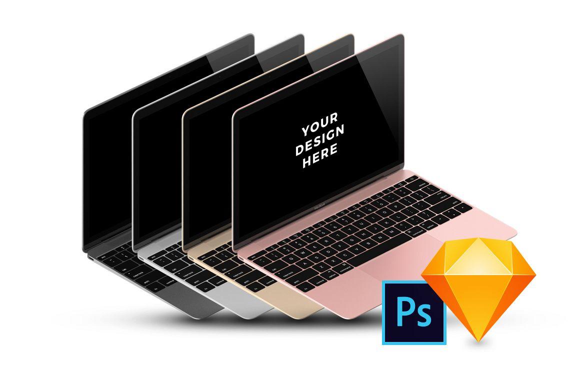 16x MacBook Mockups example image 1