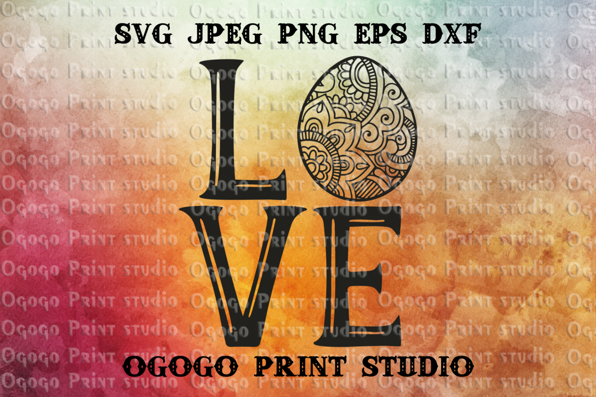 Egg Svg, Zentangle SVG, Easter SVG, Mandala svg, Cricut file example image 1