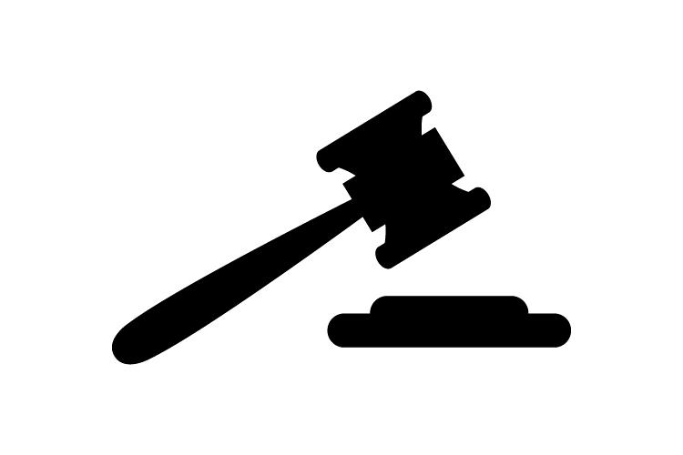 Hammer judge icon example image 1