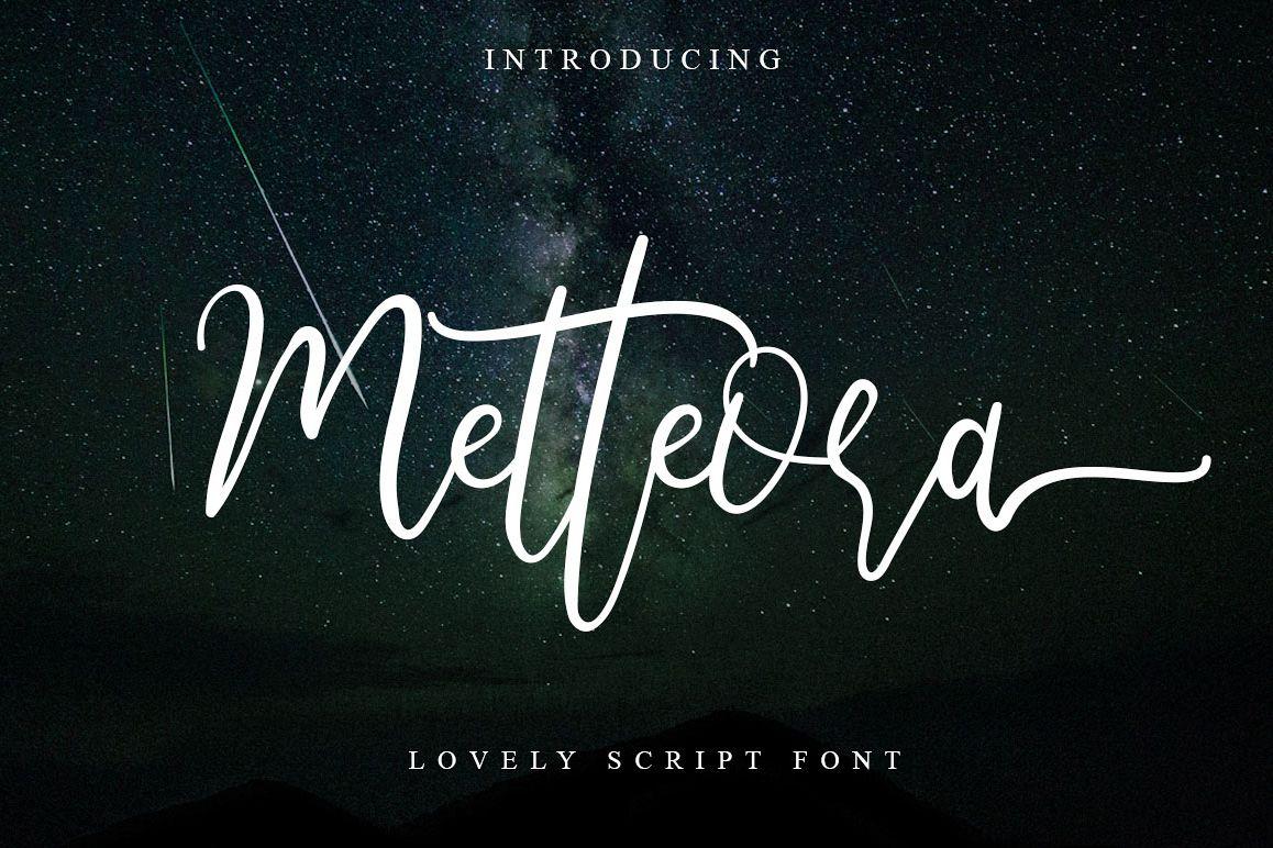 Metteora lovely script example image 1