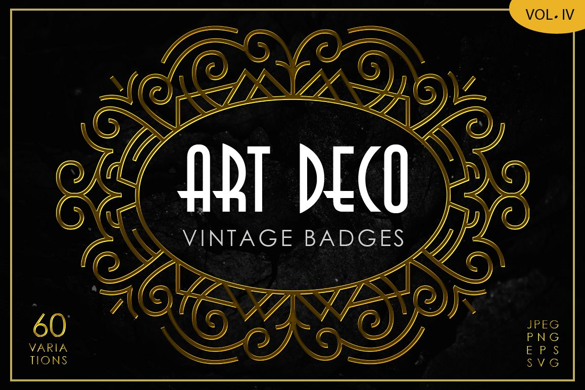 Art Deco Vintage Badges Vol. IV example image 1