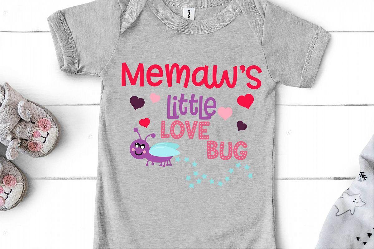 Valentine's Day SVG Little Love Bug, Memaw's Love Bug SVG example image 1