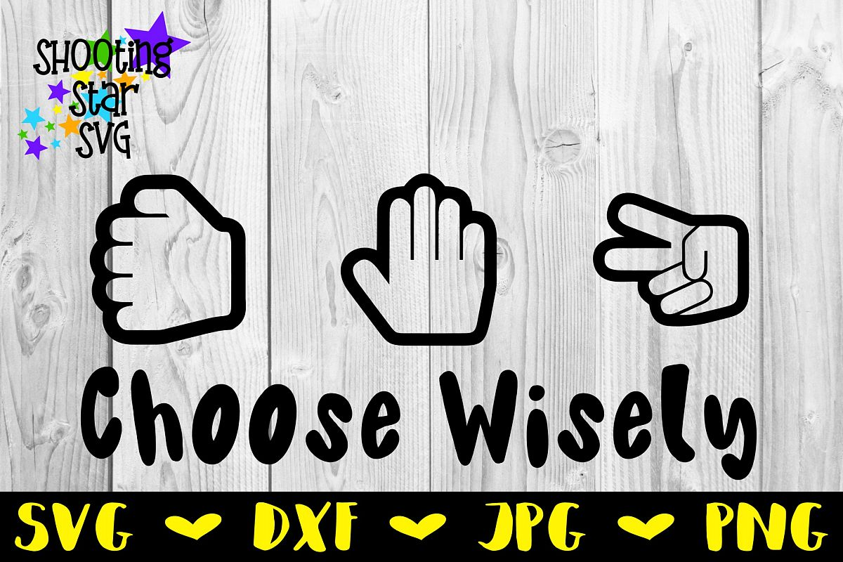 274fdbe7 Rock Paper Scissors Choose Wisely - Children's SVG example image 1