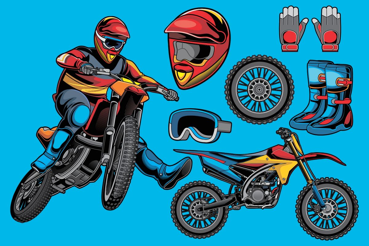 Motocross Vector Pack Example Image 1
