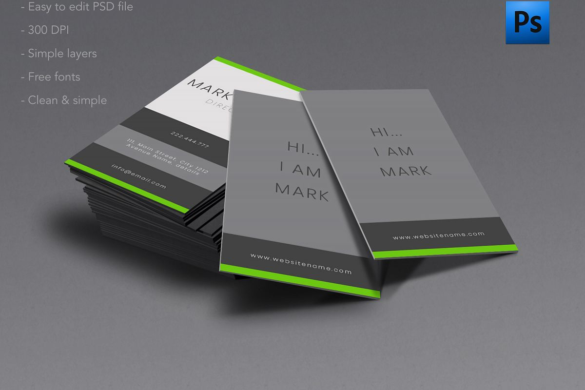 clean and simple business card example image 1 - Simple Business Cards