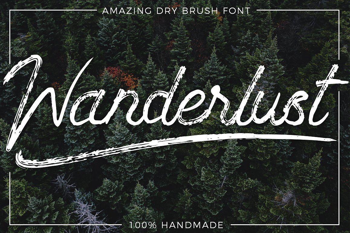 Wanderlust - Dry brush font example image 1