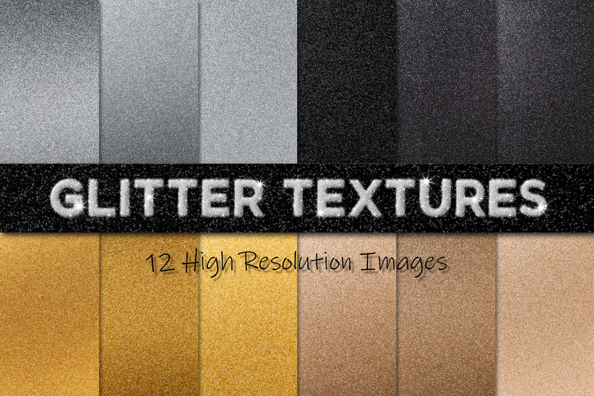 12 Glitter Textures example image 1