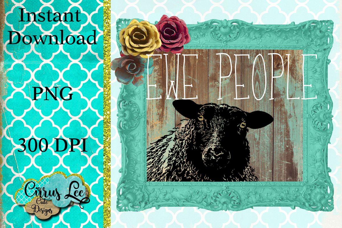 Ewe People Sublimation Design