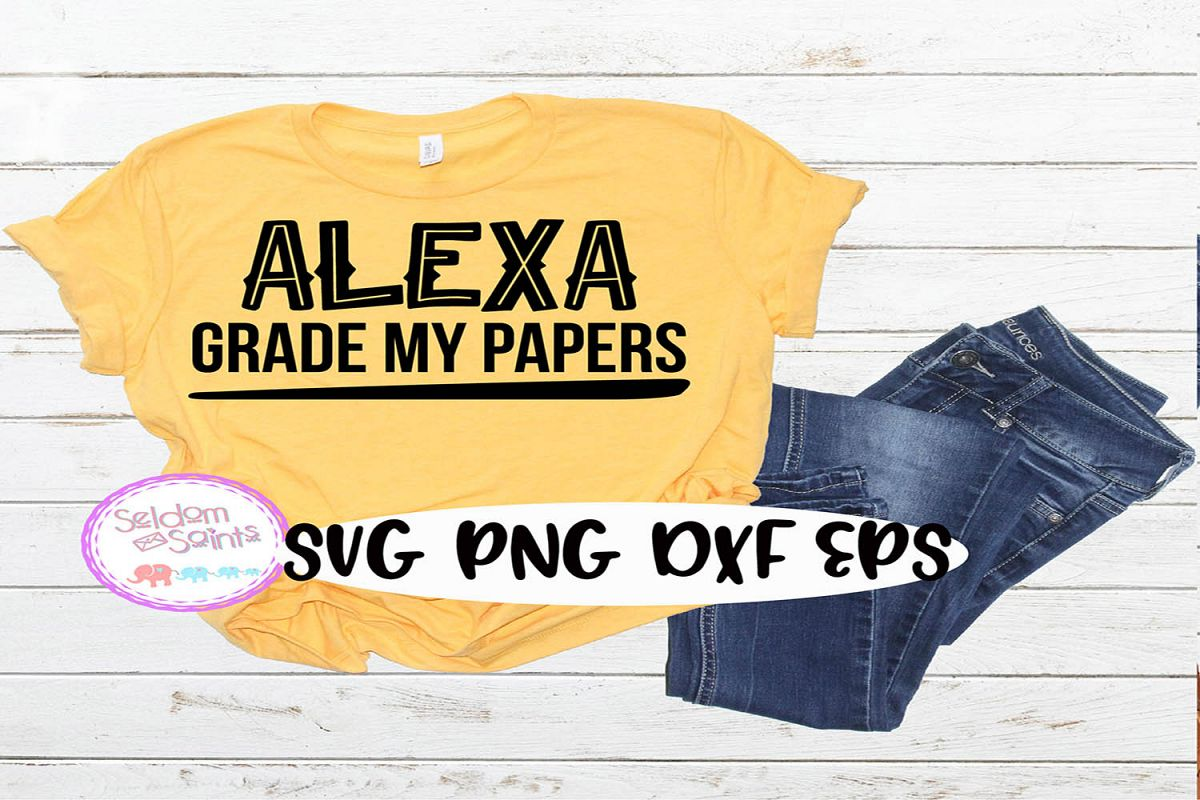 Alexa Grade my Papers SVG PNG EPS DXF example image 1