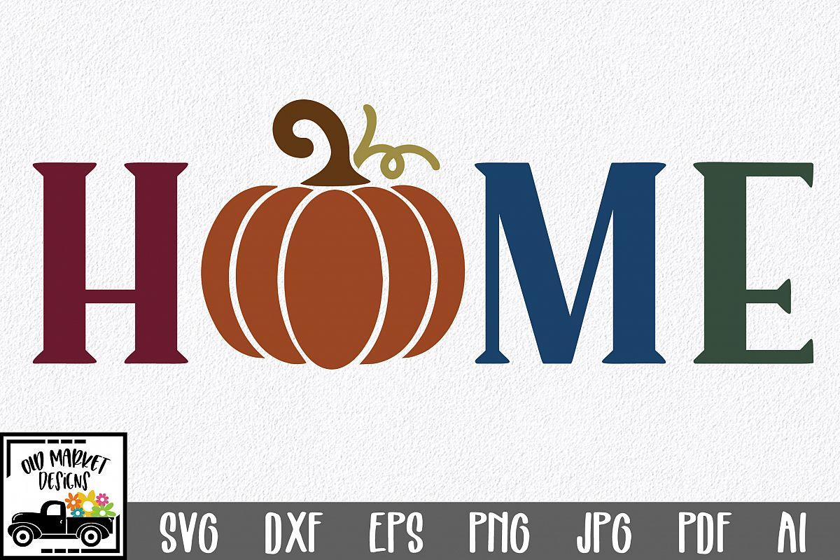 Home SVG Cut File - Fall Pumpkin SVG example image 1