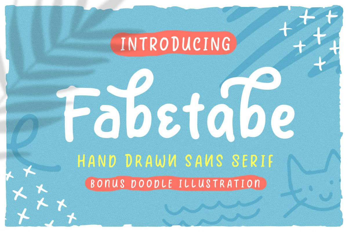 Fabetabe - A Hand Drawn Sans example image 1