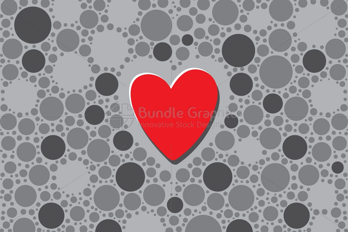 Focused Heart - Abstract Graphic Background example image 1