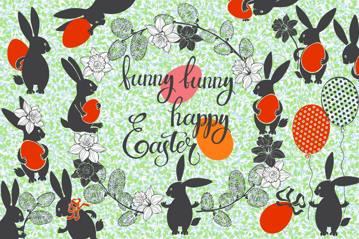 Funny Easter bunnies example image 1