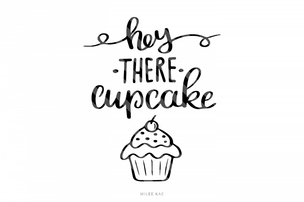 Cupcake Mug Quote SVG, Cutting file, Decal example image 1