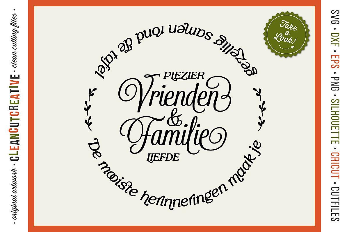 Vrienden & Familie - Mooiste Herinneringen Rond de Tafel SVG example image 1