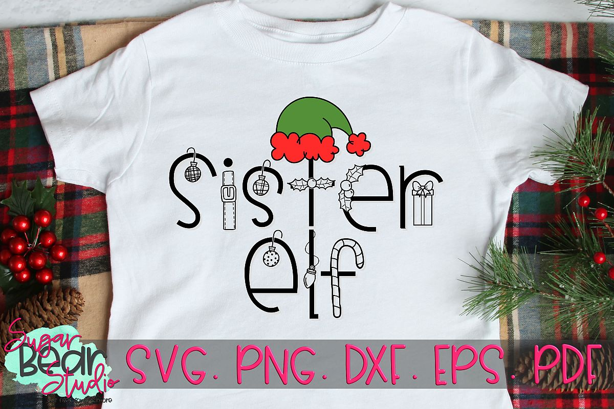 Sister Elf - A Christmas SVG example image 1